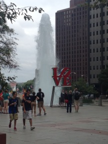 Love Fountain Plaza in Philadelphia.